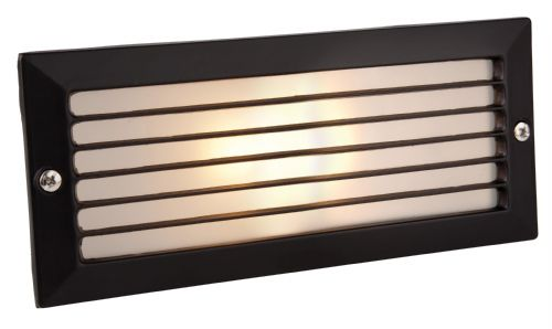 Firstlight 1121BK Black with Opal Glass Brick Light - with Louvre